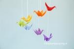Een vilten kraanvogel regenboog