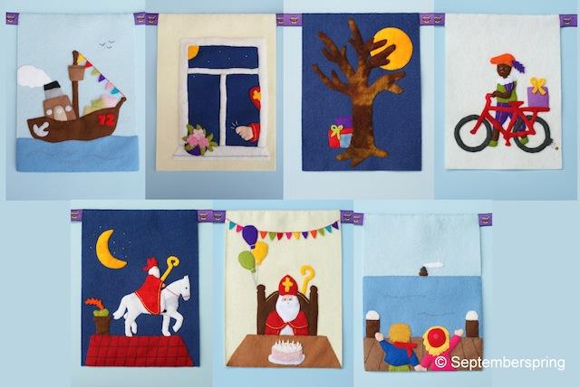 Sinterklaasliedjes vlaggen compositie 2