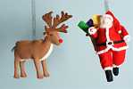 Kerstman en rudulf