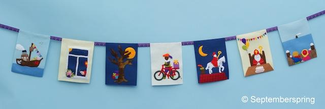 Sinterklaasliedjes-vlaggen