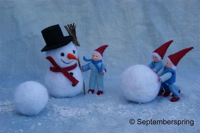 Sneeuwpoppen maken